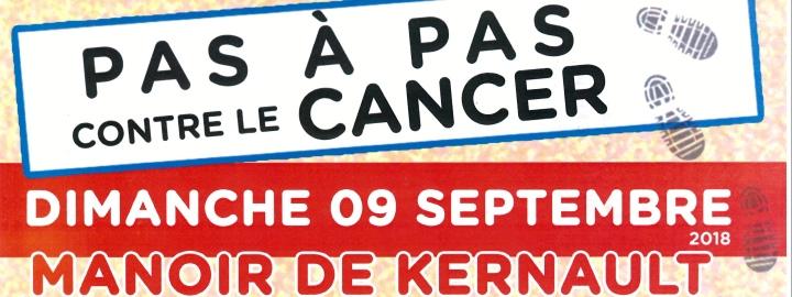 PAS-À-PAS CONTRE LE CANCER, dimanche 9 septembre au Manoir de Kernault