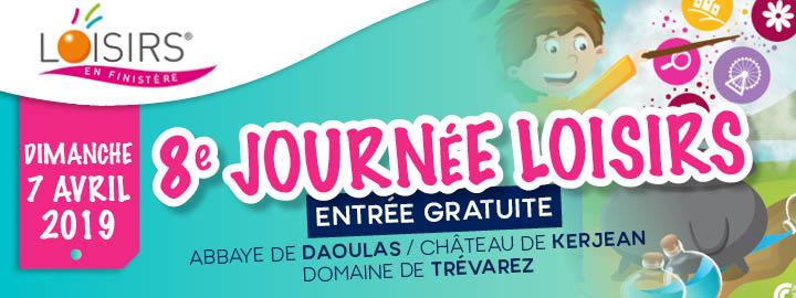 JOURNÉE DES LOISIRS, dimanche 7 avril à l'Abbaye de Daoulas, au Château de Kerjean et au Domaine de Trévarez