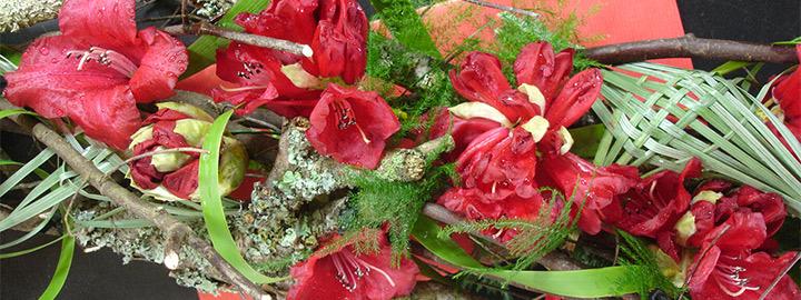 DÉLICATESSES, démonstration d'art floral par Carine Peyrichon, le 10 mai au Domaine de Trévarez